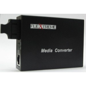 FL-8110GSA-11-20-AS: MEDIA CONVERTER 10/100/1000 MBPS TO 1000LX, SINGLE-MODE 20 KM, SC