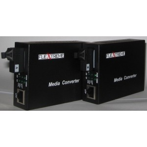 FL-8110SB-11-20A/B: MEDIA CONVERTER 10/100 MBPS TO WDM 100FX, SINGLE-MODE 20 KM, SC (2 UNIT/PAIR)